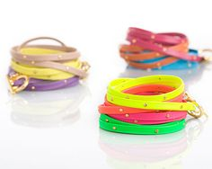 so colorful! want these bracelets!