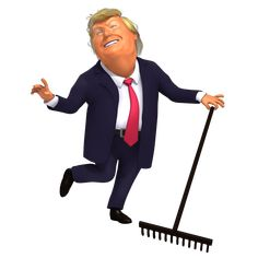 Has been a fun day when people of Finland are showing Donald Trump how they rake the forest to keep the wildfires at minimum. Funny Animal Images, Funny Animals, Animals Images, Trump Cartoons, Gif Photo, Caricature, Finland, Donald Trump, Animation