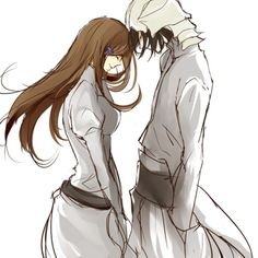 Ulquiorra and Orihime. Sorry. But I don't know the name of this anime. But I wanna watch it!!!
