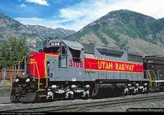 RailPictures.Net Photo: UTAH 3108 Utah Railway Company EMD SD35 at Provo, Utah by James Belmont