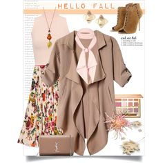 A fashion look from September 2016 by kellie-debrandt-mescher featuring WearAll, Gucci, Michael Kors, Yves Saint Laurent, Valentino, River Island and tarte