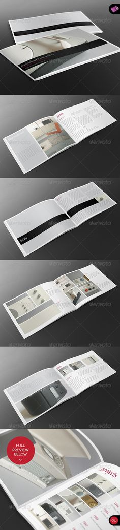 Elegant A4 Landscape Book & Brochure Template - GraphicRiver Item for Sale