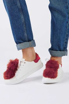 CAPTIVE Pom Pom Trainers  - Topshop Europe