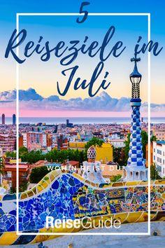 Wir zeigen dir die 5 schönsten Destinationen für deinen Sommeurlaub im Juli. Badeurlaub, Städtetrrip oder Wellnessreise? Malaga, Parks, Rome Italy, Paris Travel, Parkas