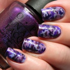 Sassy Shelly: Nails and Attitude: Purple Up! For Military Kids ~ Purple Camouflage Nail Art#comment-form