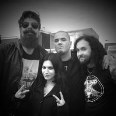 Cristina Scabbia and Jim Root | Addams family portrait from Dowload: Jim Root , Phil Anselmo, Fred of ...