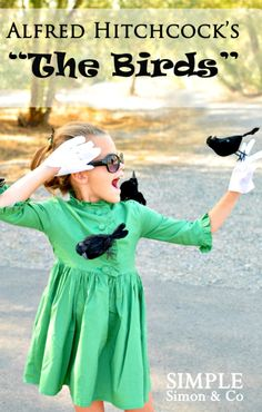 """DIY """"The Birds"""" Costume ~ great for adults too"""