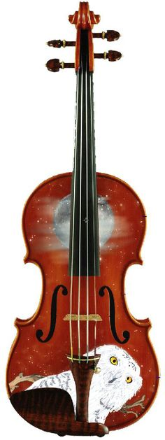 Designer Violins by Rozanna   Wise Owl Violin Outfit Fall 2012  exclusively at musiciansfriend.com