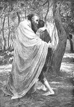 Gelijkenis van de verloren zoon, door Eugene Burnand. The prodigal son,