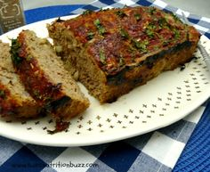 Turkey meatloaf with flax seed meal and walnuts
