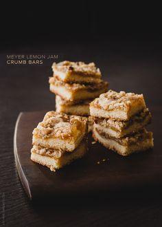 Meyer Lemon Jam Crumb Bars   www.kitchenconfid...