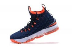 c7337761c460 Designer Nike LeBron 15 Pride of Ohio Dark Blue Orange Men s Sneakers  Basketball Shoes