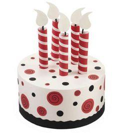 Bright & fun #party #cake @Wilton Cake Decorating