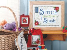 I Stitch therefore I Stash, designed by @Rhona Marr Norrie, from www.cross-stitching.com (a.k.a. The-Chart-Shop.com), originally published in @Christy Polek Smithson-Ross Stitch Crazy, July 2010, Issue 139.
