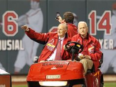 Cardinals legend Stan Musial makes a surprise appearance before Game 4 of the National League Championship Series between the St. Louis Cardinals and the San Francisco Giants on Thursday, Oct. 18, 2012, at Busch Stadium. Photo by J. B. Forbes, jforbes@post-dispatch.com