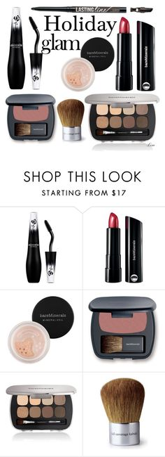 """""""Holiday Glam"""" by lmm2nd ❤ liked on Polyvore featuring beauty, Lancôme, Naeem Khan and Bare Escentuals"""