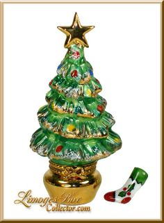 Christmas Tree an Gift Limoges Trinket Box The Night Before Christmas, Merry Christmas And Happy New Year, Christmas Stocking, Christmas Tree, Jewelry Dresser, Cute Box, Music Boxes, Christmas Figurines, Glass Boxes