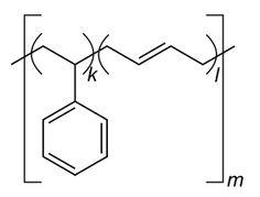 Strukturformel von Styrol-Butadien-Kautschuk