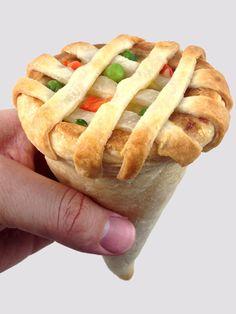 The Chicken Pot Pie Cone