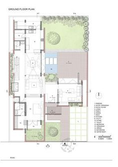 Image 20 of 26 from gallery of Brick House / Architecture Paradigm. First Floor Plan Brick House Plans, House Layout Plans, Floor Plan Layout, Dream House Plans, Modern House Plans, House Floor Plans, Villa Design, House Design, Social Housing Architecture