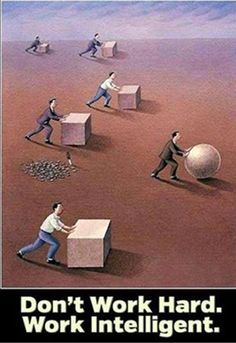 Post with 0 votes and 2619 views. Work Smarter, Not Harder Pictures With Deep Meaning, Art With Meaning, Cool Words, Wise Words, David Laroche, Satirical Illustrations, Meaningful Pictures, Motivational Posters, Super Quotes