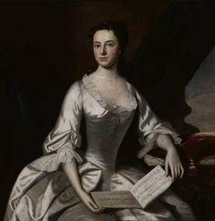 Mrs. Barlow Trecothick (Grizzell Apthorp), ca. 1748  (Robert Feke) (1707-1752) Wichita Art Museum, KS     M78.49