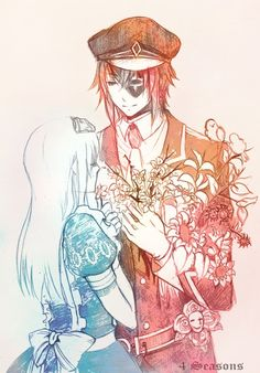 Joker and Alice Liddell from Alice in the Country of Hearts