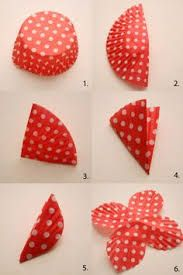 Image result for embellishment using cupcake wrapper