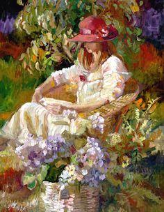Girl In The Red Hat  by Sally Rosenbaum