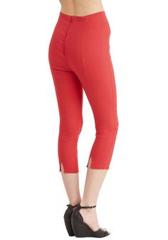 Jive Got a Feeling Pants in Red   Mod Retro Vintage Pants   ModCloth.com