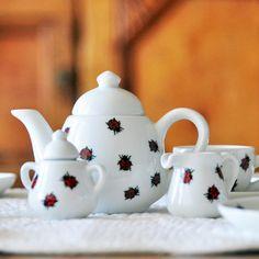 Ladybug Tea Set  Children's Tea Set  Imagination Ideas for Kids