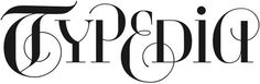 logo by John Langdon for a website devoted to the categorization of type; click through for the designer's excellent account of the process of its creation