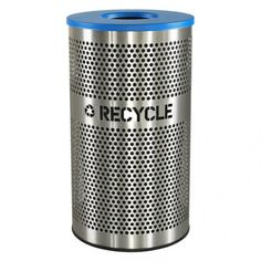 $379.00 The Venue 33 Gallon Brushed Stainless Steel Waste Container
