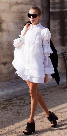 white ruffles- Stockholm Street Style