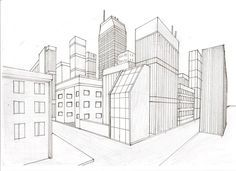 Two Point Perspective City by on deviantART Two Point Perspective City, 1 Point Perspective Drawing, Perspective Art, Cityscape Drawing, City Drawing, House Drawing, Interior Architecture Drawing, Architecture Concept Drawings, Graphic Design Lessons
