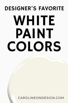 White can be one of the hardest paint 'colors' to choose SO I've narrowed down for you the hundreds of options to 10 white paint colors that designers love! Off White Paints, White Paint Colors, Exterior Paint Colors, Paint Colors For Home, House Colors, House Design Photos, Home Design, Sherwin Williams Creamy, Ultra Modern Homes