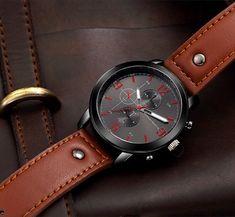 Fashion Leather Strap Big Dial Quartz Watch Sport Watches for Men online - NewChic