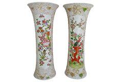 Chinese Trumpet Vases, Pair | One Kings Lane