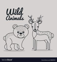 Free Printable Uncolored Pictures Of Animals