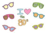 Free 80s Sunglasses Vector Series