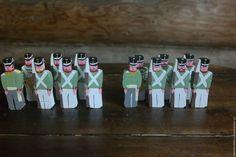 Купить Русская пехота 1812 года - тёмно-зелёный, солдатики, деревянные солдатики, настольная игра