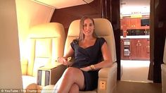 Amanda Miller, the Trump Organization's Vice President of Marketing, is pictured on board ...