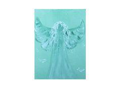 Schutzengel / Engel Bilder in Acrylmalerei. Energiebild in hellgrün. Spirituelle Kunst http://de.dawanda.com/product/75131539-schutzengel-engelbild von Salabrin Kunst und Seide auf DaWanda.com