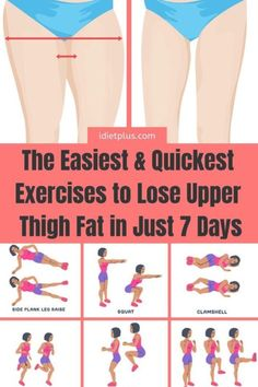 If you want to get smaller thighs and hips and you are wondering why is thigh fa. If you want to get smaller thighs and hips and you are wondering why is thigh fat so hard to lose, then read more in Fitness Workouts, Gym Workout Tips, Fitness Workout For Women, Easy Workouts, Fitness Motivation, Exercise Motivation, Workouts For Legs, Exercises For Thighs, Inner Leg Workouts