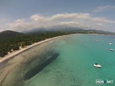 Aerial drone Photo from France by Kareldef : 20144 Zonza, France Aerial Drone, France, River, Beach, Outdoor, Outdoors, The Beach, Beaches, Outdoor Living
