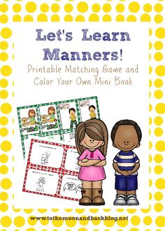 FREE Manners Printable Pack - To the Moon and Back
