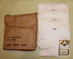 Vintage Men's New Old Stock Undershirt, Two Sears Pilgrim and One Stedman, Made in USA by ilovevintagestuff on Etsy