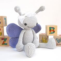 Ravelry: Crocheted butterfly pattern - Anthropomorphized butterfly - Amigurumi tutorial with photos - Stuffed animal pattern - Cute soft toy - Baby shower pattern by Kristi Tullus