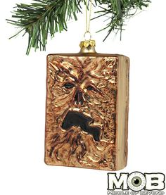 Product in Stock Ships in Days Officially Licensed Evil Dead 2 Necronomicon ornament. This ornament is 4 inches tall and 3 inches wide. Made of blown glass. Black Christmas Decorations, Holiday Ornaments, Glass Ornaments, Halloween Decorations, Christmas Crafts, Yule Decorations, Christmas Stuff, Christmas Ideas, Dark Christmas