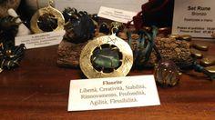 Talismano Runico, Ciondolo e Anello con Fluorite